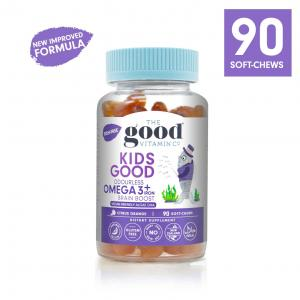 The Good Vitamin CO. 儿童 OMEGA-3 鱼油软糖 (香橙味) Kids Good Omega 3 Brain Boost Gummies 90 - Citrus Orange Flavour