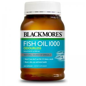 澳佳宝 深海鱼油 Blackmores Fish Oil 1000mg Odourless 200 Capsules